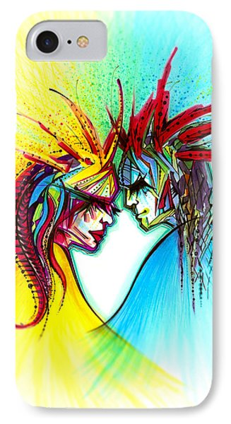 Face To Face II Phone Case by Andrea Carroll