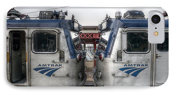 Face To Face On Amtrak Phone Case by Richard Reeve