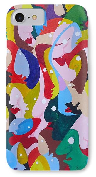 Faces In The Crowd Phone Case by Glenn Calloway