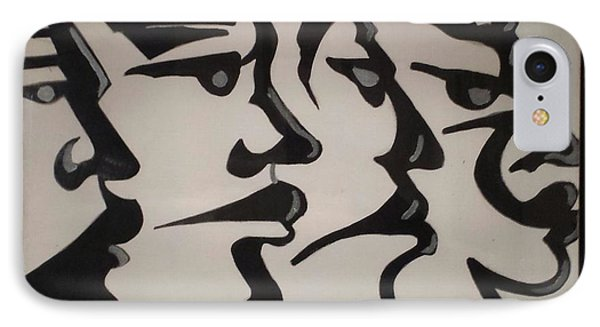Faces IPhone Case by James Johnson