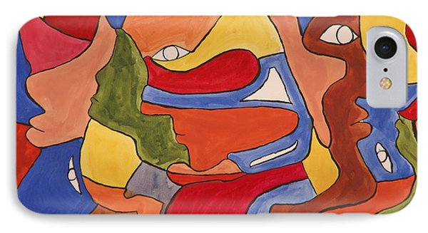Faces IPhone Case by Jose Rojas