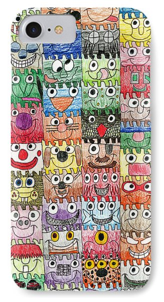 Faces Puzzle Poster IPhone Case