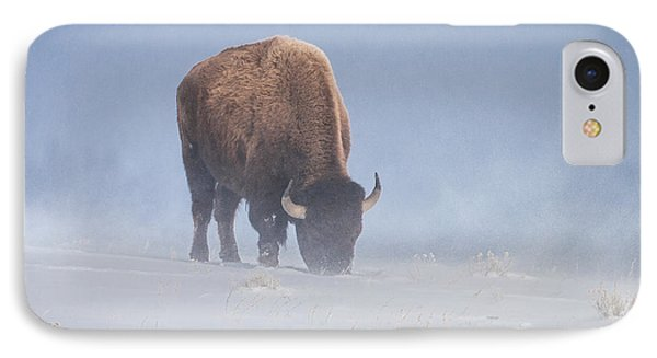 IPhone Case featuring the photograph Faces The Blizzard by Jack Bell
