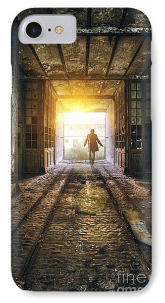 Factory Chase IPhone Case by Carlos Caetano