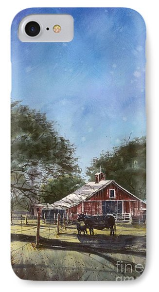 IPhone Case featuring the painting Faded Barn by Tim Oliver