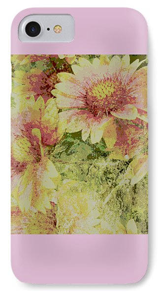 Faded Love Abstract Floral Art Phone Case by Ann Powell