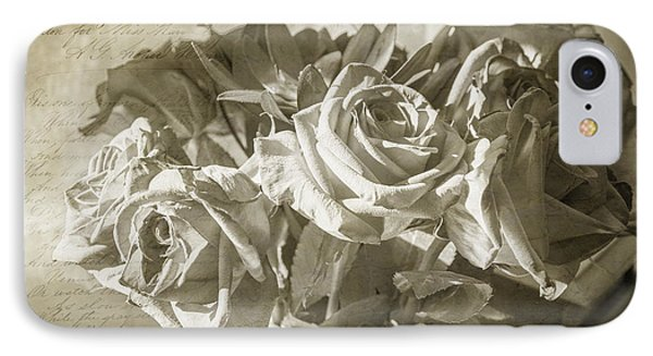 Fading Roses IPhone Case by Terry Rowe