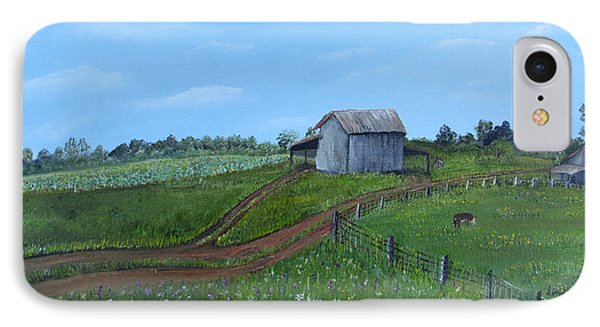 Fading Tobacco Barns IPhone Case