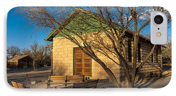 IPhone Case featuring the photograph Fairbank Schoolhouse by Beverly Parks