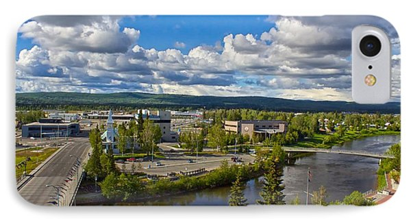 IPhone Case featuring the photograph Fairbanks Alaska The Golden Heart City 2014 by Michael Rogers