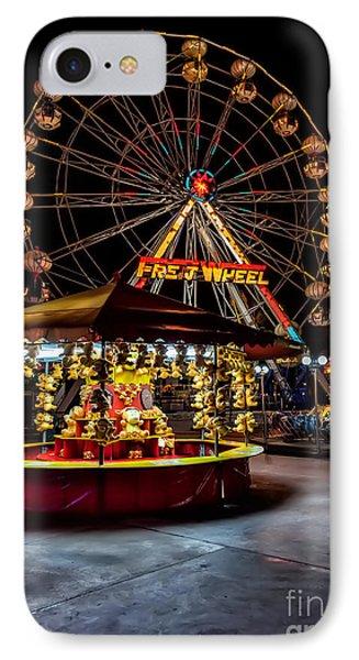 Fairground At Night Phone Case by Adrian Evans