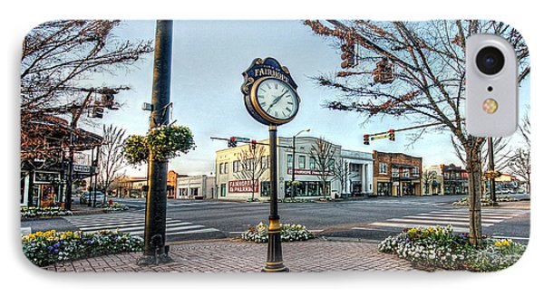 Fairhope Clock And 4 Corners Phone Case by Michael Thomas