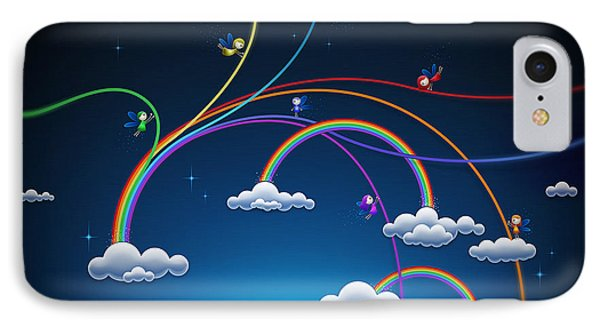Fairies Made Rainbow IPhone Case by Gianfranco Weiss
