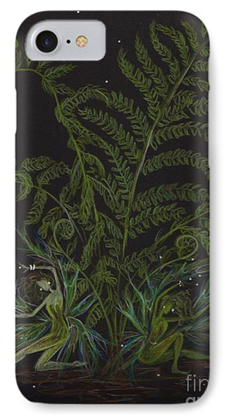 IPhone Case featuring the drawing Fairies Smell Like Ferns by Dawn Fairies