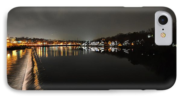 Fairmount Dam And Boathouse Row In The Evening Phone Case by Bill Cannon