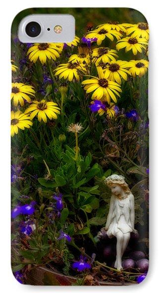 Fairy In Garden Pot IPhone Case by Dave Garner