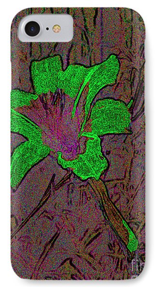 IPhone Case featuring the photograph Fairy Lily Abstract Digital Art by Merton Allen