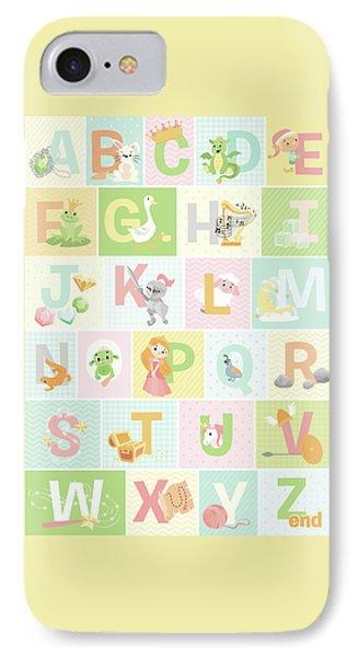 Fairy Tale Alphabet IPhone Case by Josefina