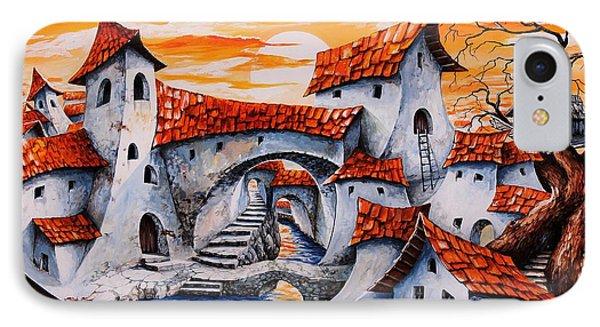 Fairy Tale City - Magic Stream IPhone Case by Emerico Imre Toth