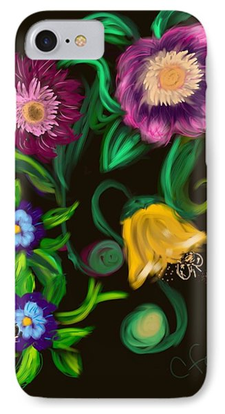 IPhone Case featuring the digital art Fairy Tale Flowers by Christine Fournier