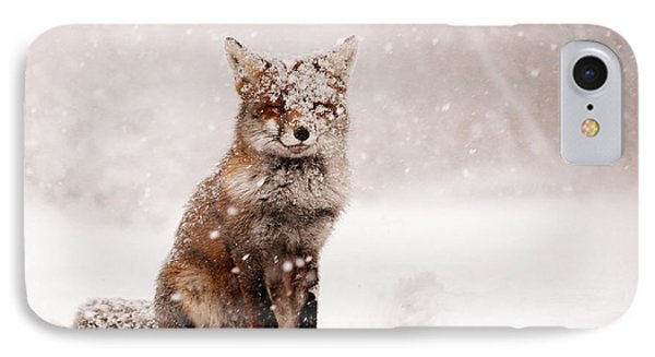 Fairytale Fox _ Red Fox In A Snow Storm IPhone 7 Case by Roeselien Raimond