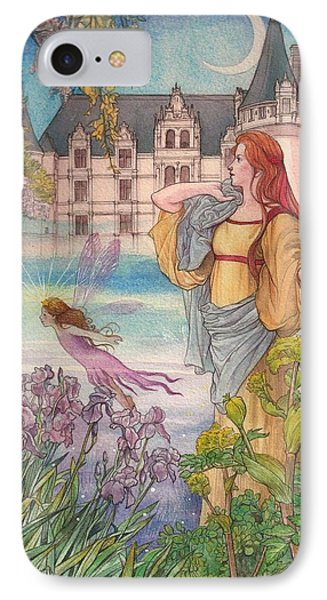 Fairytale Nocturne Castle IPhone Case by Judith Cheng