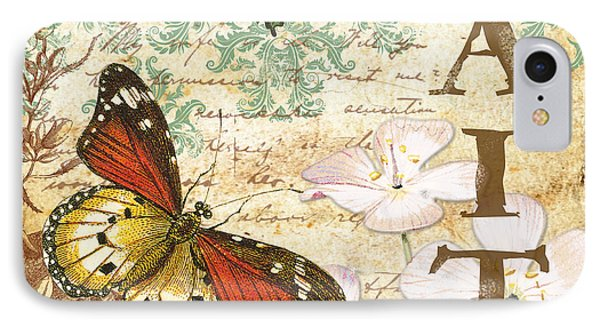 Faith And Butterflies IPhone Case by Jean Plout