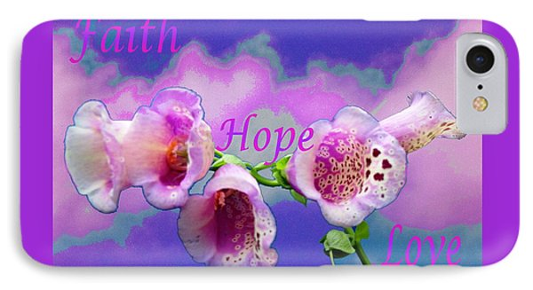 Faith-hope-love IPhone Case by Mike Breau