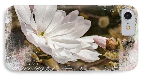 Faith Love And Hope - Flower Art IPhone Case by Jordan Blackstone