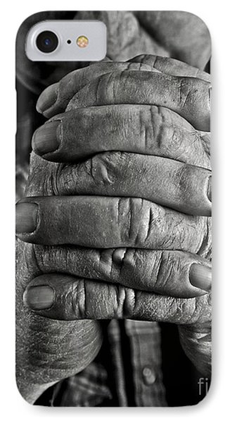 Faithful Hands IPhone Case by Pattie Calfy