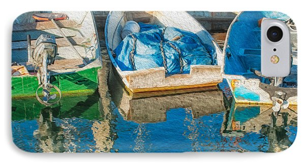 Faithful Working Boats IPhone Case by Joan Herwig