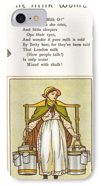 Fake Milk, 1880s Poem IPhone Case by British Library