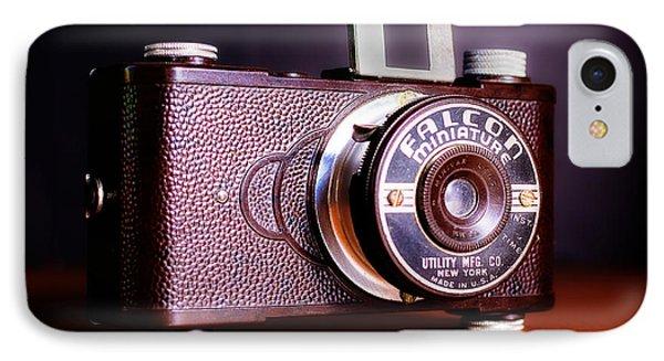 Falcon Miniature Camera In Tortoise-shell Bakelite IPhone Case by Jon Woodhams