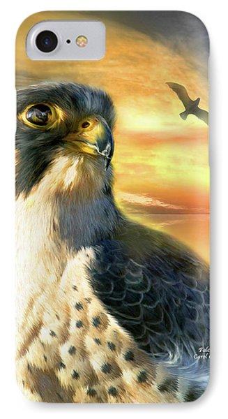 Falcon Sun Phone Case by Carol Cavalaris