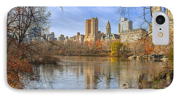 Fall Afternoon At Central Park IPhone Case by Tim Reaves