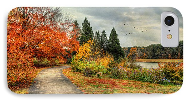 Fall Along Lake Nevin IPhone Case by Darren Fisher
