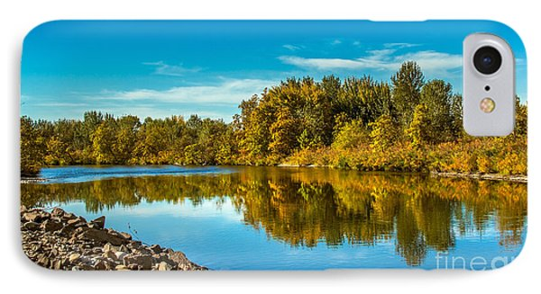 Fall Along The Payette River IPhone Case by Robert Bales
