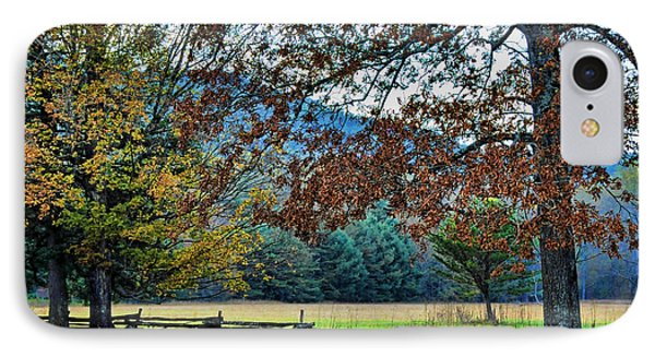 Fall At Cades Cove IPhone Case by Kenny Francis