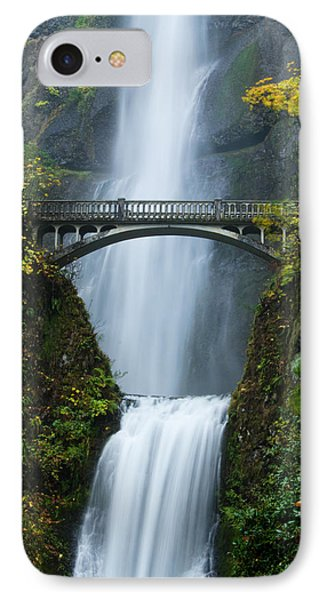 Fall At Multnomah Falls IPhone Case by Don Schwartz