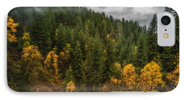 Fall At Silver Falls IPhone Case by Dennis Bucklin