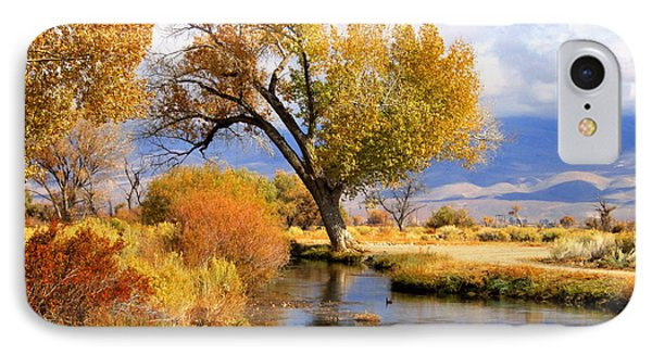 IPhone Case featuring the photograph Fall At The River by Marilyn Diaz