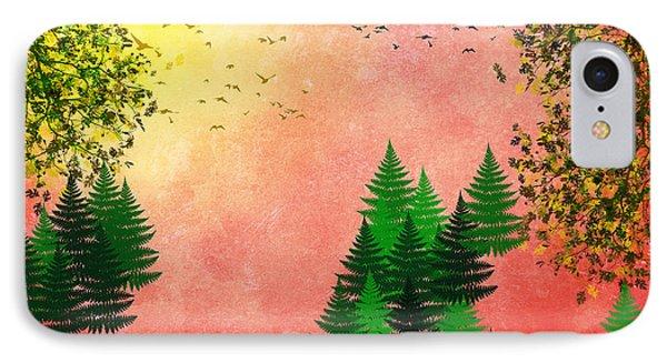 Fall Autumn Four Seasons Art Series Phone Case by Christina Rollo