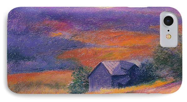 Fall Barn Pastel Landscape IPhone Case by Judith Cheng