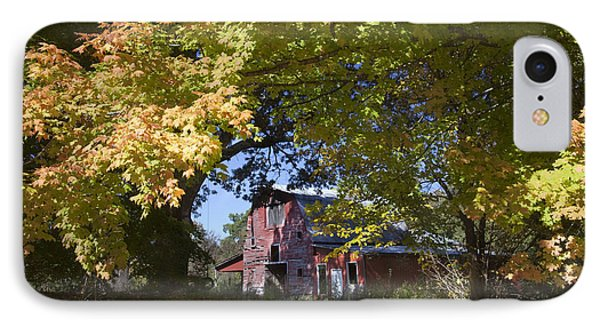Fall Barn IPhone Case by Robert Camp