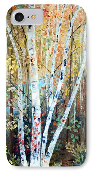 Fall Birch Trees Phone Case by Laura Tasheiko