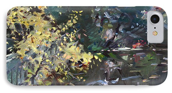 Geese iPhone 7 Case - Fall By The Pond by Ylli Haruni