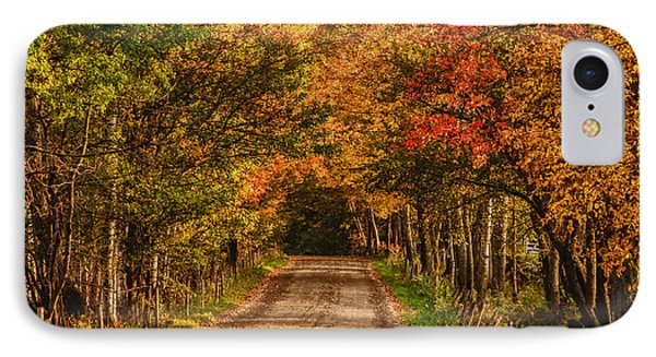 IPhone Case featuring the photograph Fall Color Along A Dirt Backroad by Jeff Folger
