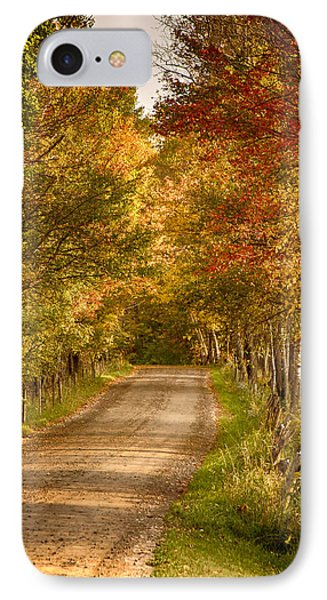 IPhone Case featuring the photograph Fall Color Along A Peacham Vermont Backroad by Jeff Folger