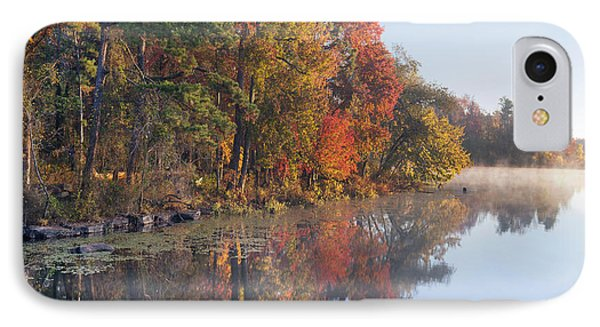 Fall Colors Along Lake Bailee In Petit IPhone Case by Tim Fitzharris