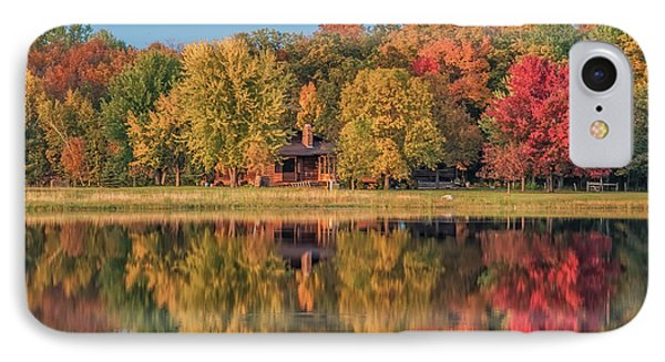 Fall Colors In Cabin Country IPhone Case by Paul Freidlund